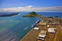 Aerial;The_Port_of_Tauranga;Mount_Maunganui;Bay_of_plenty;blue_seablue_skysandy_