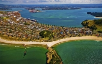 Aerial;Mount_Maunganui;Mt_Maunganui_Town_Centre;Bay_of_plenty;blue_seablue_skysa