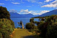 Lake_Te_Anau;Fiordland;mountains;hills;rivers;Road;State_Highway_94;bush;native_