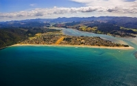 Aerial;Pauanui;Coromandel;sandy_beaches;bachs;holiday_homes;blue_sky;blue_sea;bu