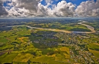 Aerial;Dargaville;Northland;kaipara;Wairoa_River;airfield;bridge;Kaipara_Harbour