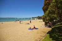 Auckland_East;Kohimarama_Beach;Auckland;Tamaki_Strait;crowds;sunbathers;Yachting