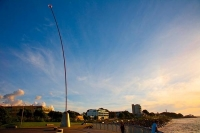 New_Plymouth;Taranaki;Down_Town;Wind_Wand;Sea;sea_front;late_light