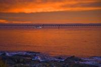 Bluff;Southland;Going_Fishing;pier;long_pier;fishing_boat;orange_sky;dawn_sky